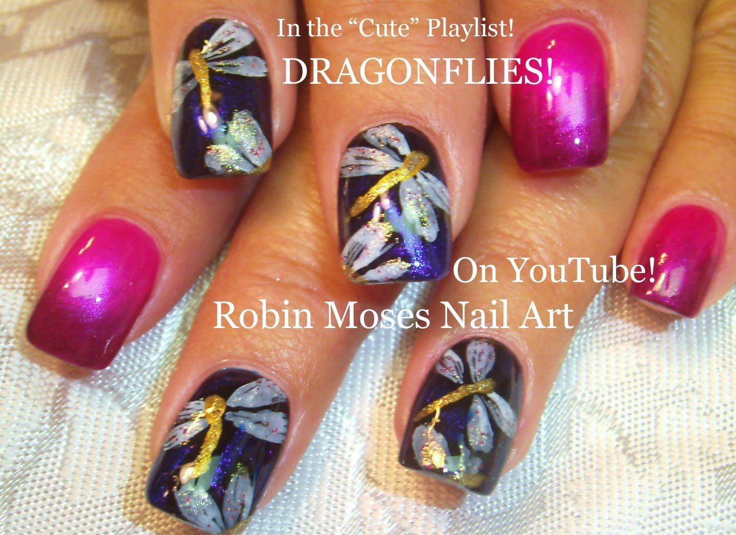 Easy Nail Art Design - DIY Dragonfly Nail Art Tutorial | Nails ...