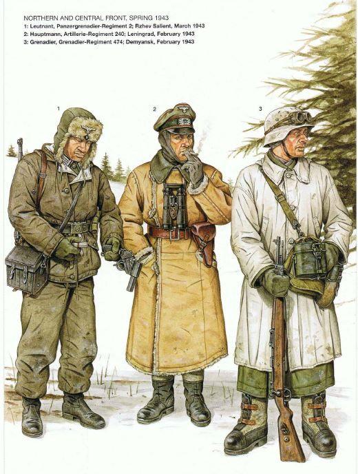 WEHRMACHT - Primavera 1943, fronte Centro Nord - 1) Leutenant, 2.  Panzergrenadieren