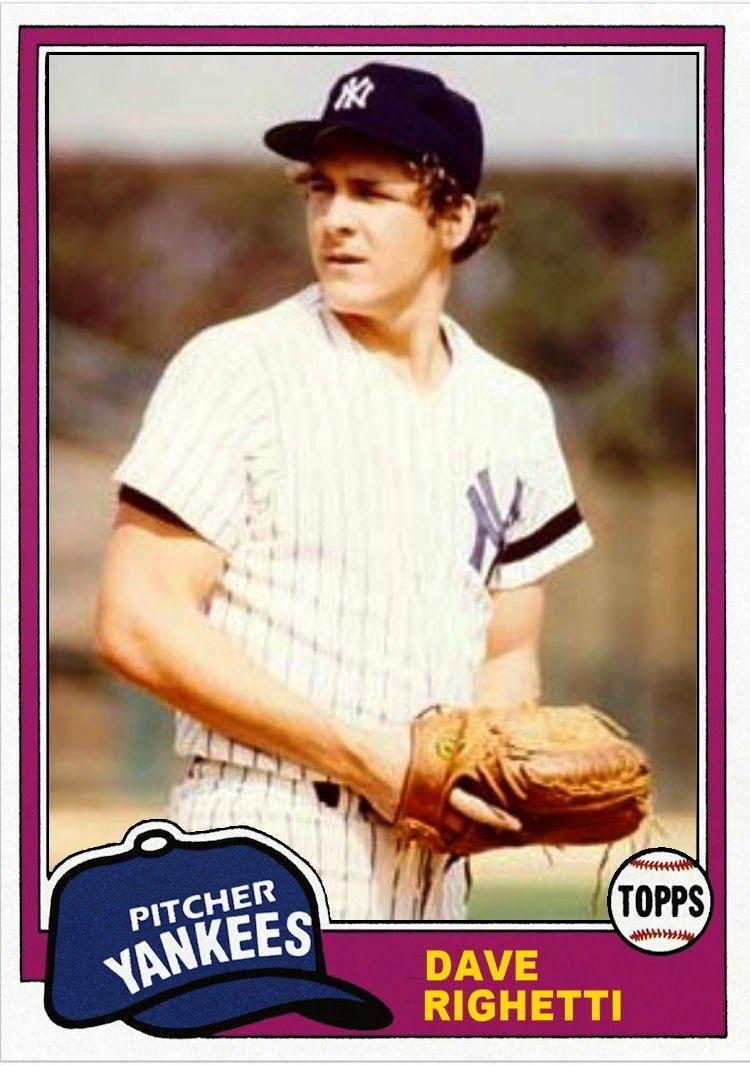 1981 Topps Dave Righetti, New York Yankees, Baseball Cards