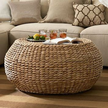 Round Woven Coffee Table