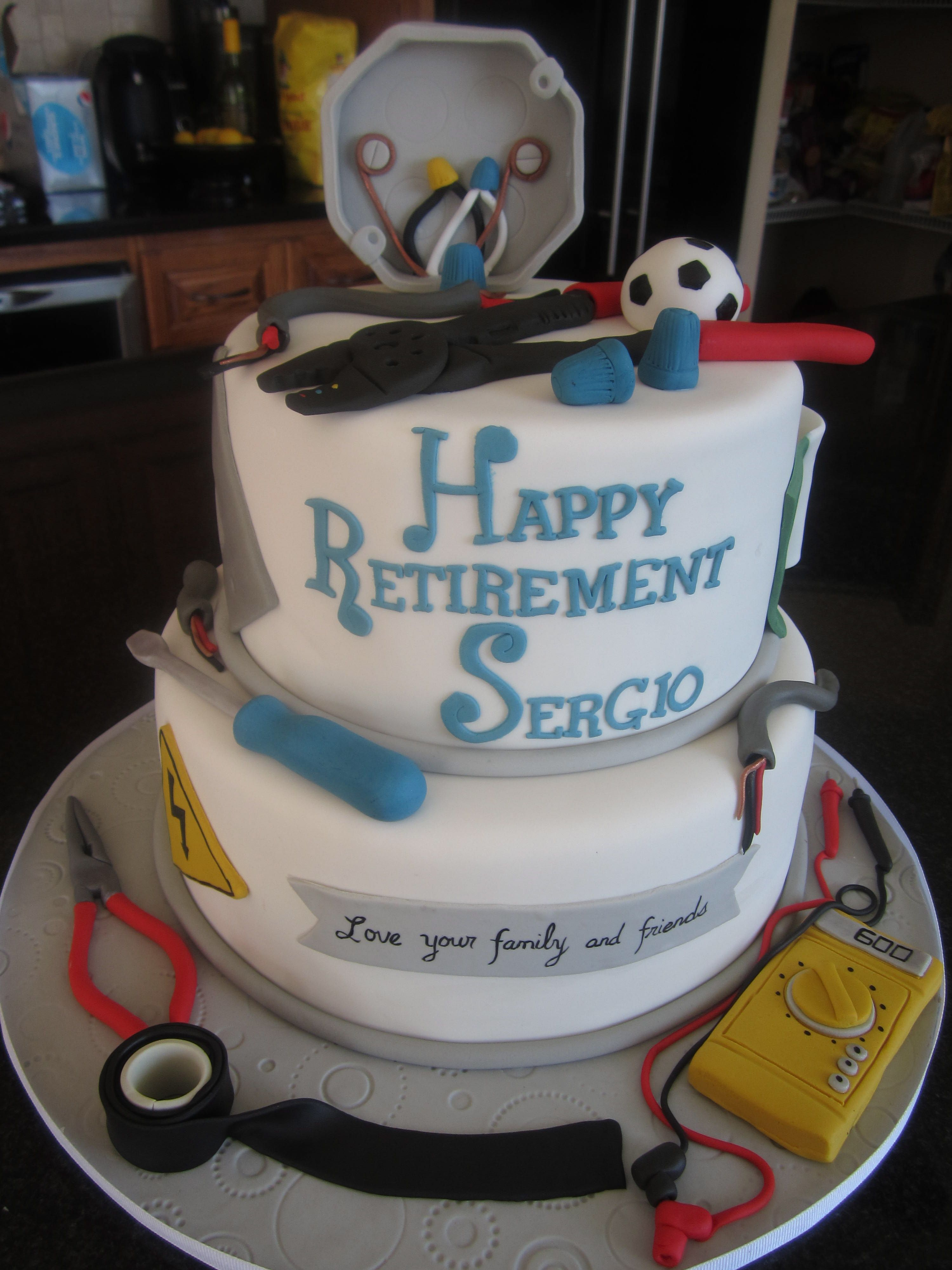 Retirement Cakes For A Electrician
