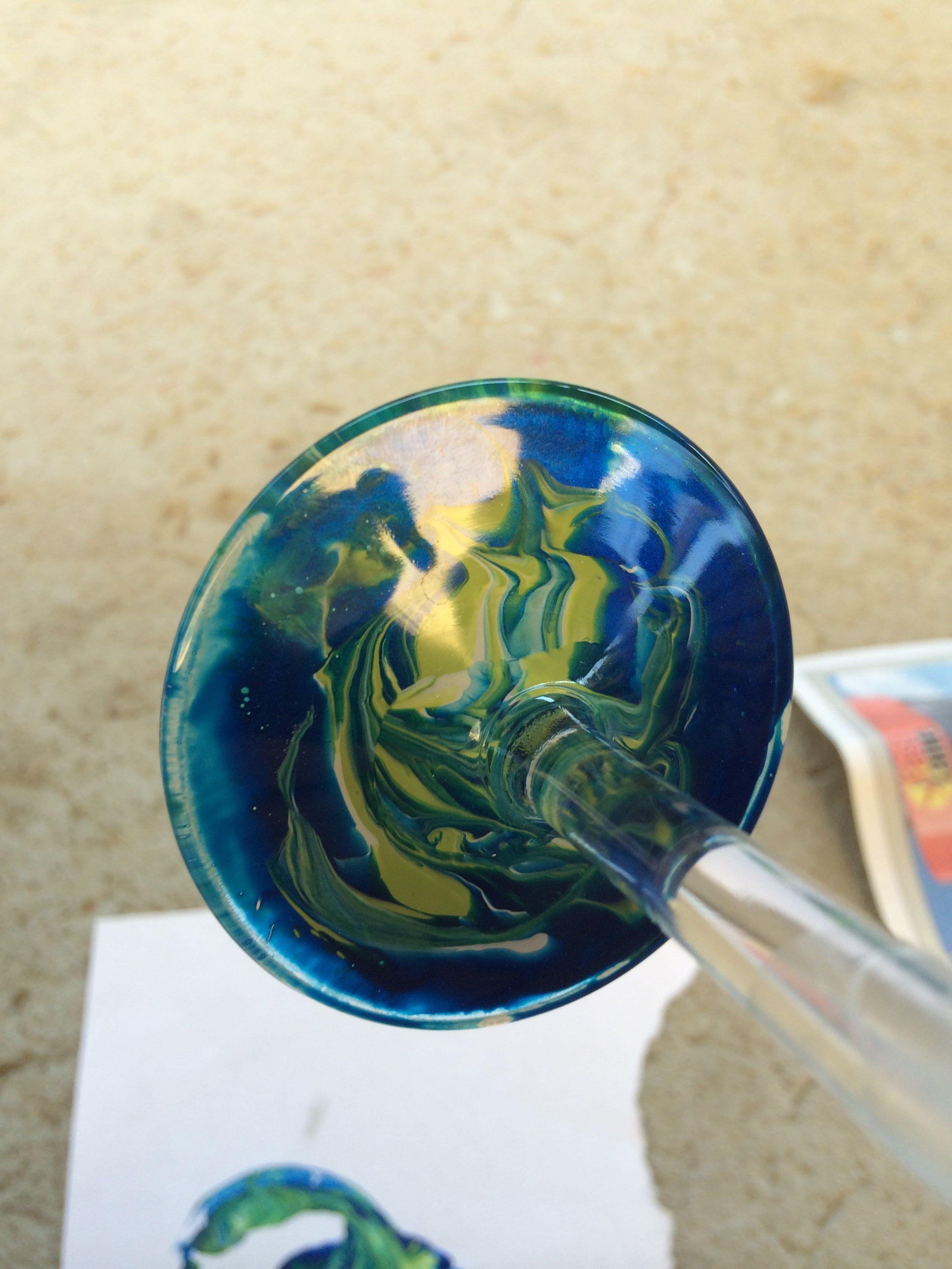 nail polish marble wine glass bottom