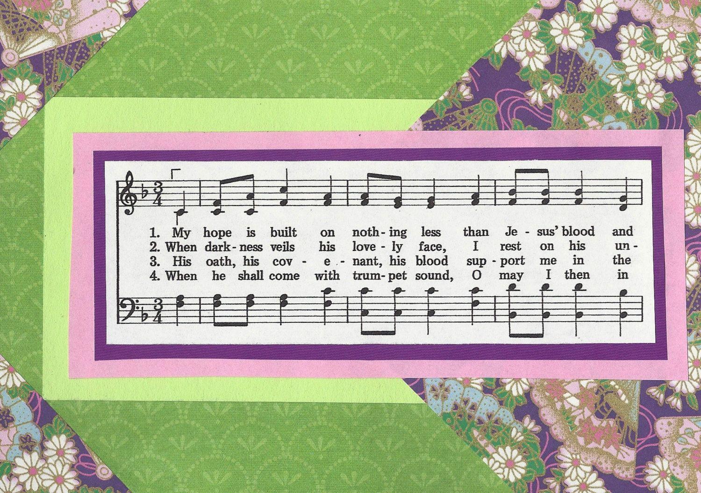 My Hope Is Built Card By Gospelhymns On Etsy