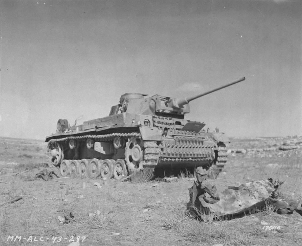 The Tunisia Campaign was a series of battles that took place in Tunisia during the North African Campaign of the Second World War, between Axis and Allied forces. The abandoned and burnt a German tank Pz. Kpfw. IV Tunisia, North Africa. 1943 (Ronnie Bell_Flickr) A German Mark III tank knocked out by 37mm American artillery. Kasserine Pass, Tunisia. 25 February 1943 (III-SC 170116, NARA, histomil.com) Destroyed Marder. Enfidavill, Tunisia (Krueger Horst_Flickr) A German Panzerkampfwagen III…