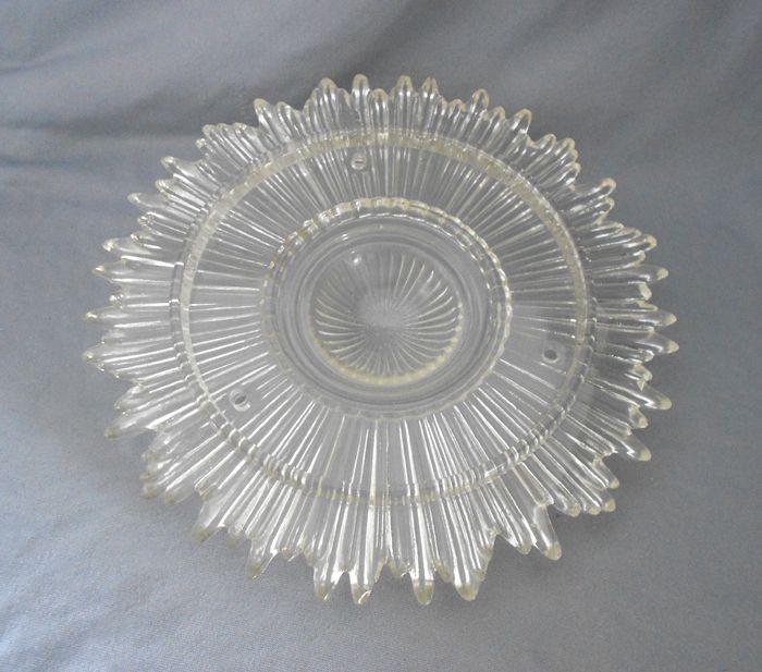 Vintage Ceiling Light Fixtures Vintage Sunburst Faceted Glass