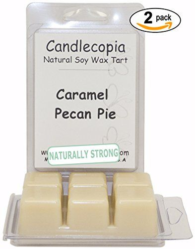 Candlecopia Caramel Pecan Pie 6.4 oz Scented Wax Melts - Fresh baked caramel pecan pie with hints of coconut, cocoa, vanilla, and butter rum! - 2-Pack of naturally strong scented soy wax cubes throw 50+ hours of fragrance when melted in Scentsy®, Yankee Candle® or standard electric tart warmer Candlecopia http://www.amazon.com/dp/B00MFPROM0/ref=cm_sw_r_pi_dp_LWQ6tb0ZE6D2C
