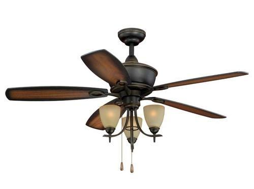 Turn Of The Century Somerville 52in 3 Light Ceiling Fan Ceiling Fan Bronze Ceiling Fan