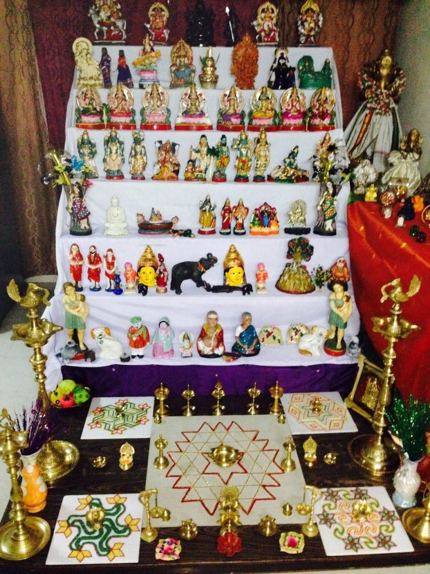 Golu 2013 At Jayachander 39 S Home In Delhi Very Pleasing On The Eye Navaratri 2013 Pinterest