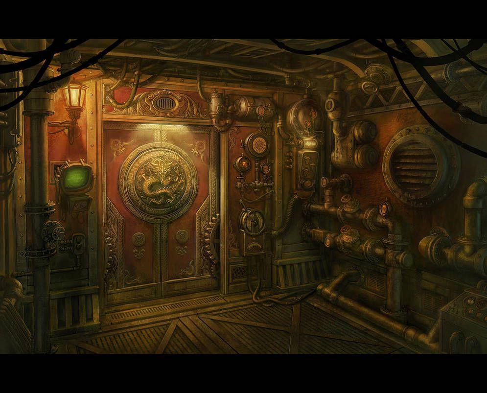 Ficiaria Steampunk Door Steampunk Ship Steampunk Art