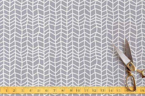 Hand Drawn Herringbone Fabric