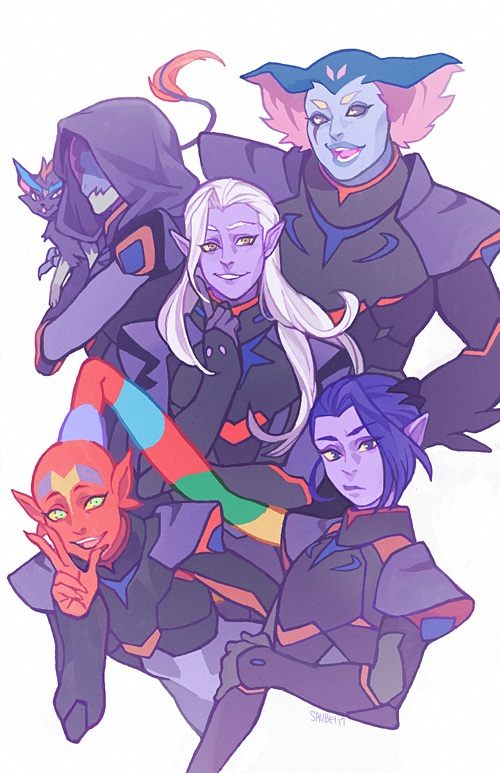 Lotor and his generals: (Left-Right) Narti, Zethrid, Lotor