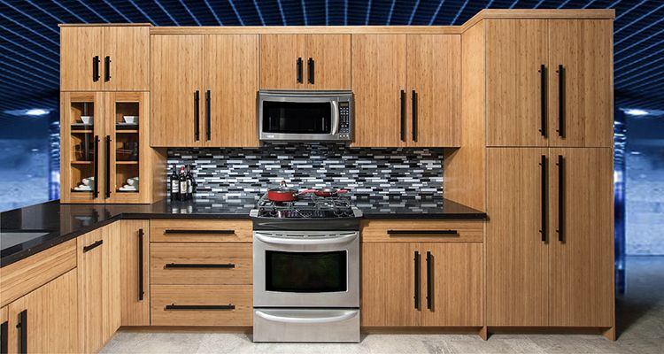 Slab Bamboo Cabinets | Bamboo Kitchen Cabinets Online ...