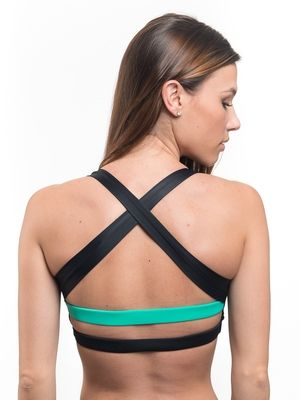 839f98121f Super cute open back sports bra! Love the black and mint contrasting  colors! Need this sports bra in my life! This website is full of cute  sports bras and ...