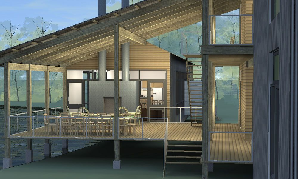 Deck designs for modular homes
