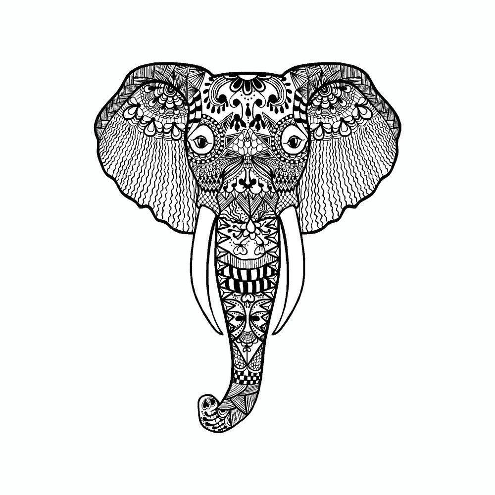 Elephant Mandala Art Tribal Vinyl Car Sticker in 2018 | Cool things ...