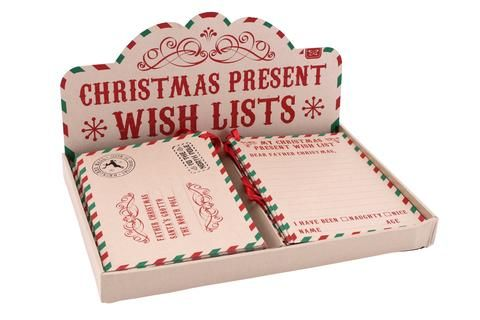 Craft Paper Christmas Wish lists Winter Wedding Theme - christmas wish list paper