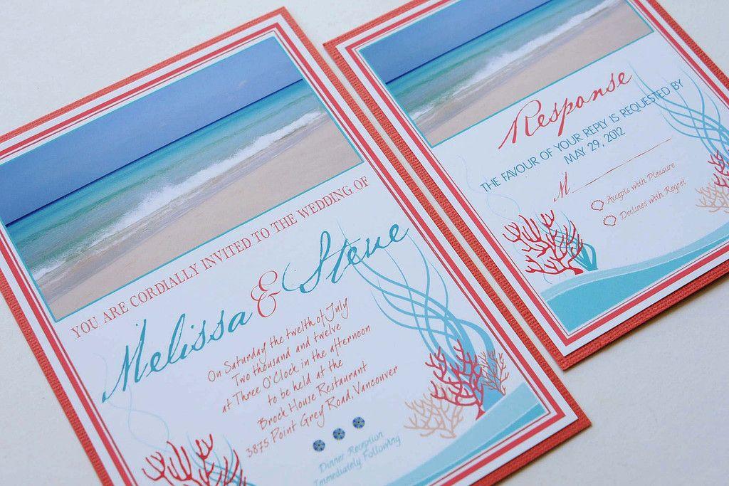 Wedding Invitation New Trend Coral Reef Beach Invitations Ideas 1024x683