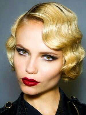 The Great Gatsby Hairdo For Danae S 25th Hair Styles Retro Hairstyles Chic Hairstyles