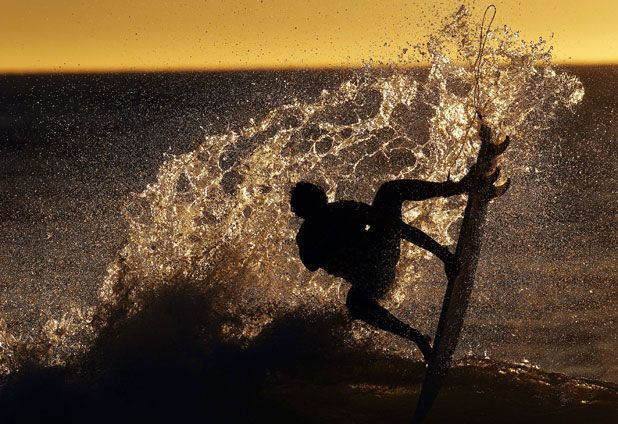 Surfing constest in Chile