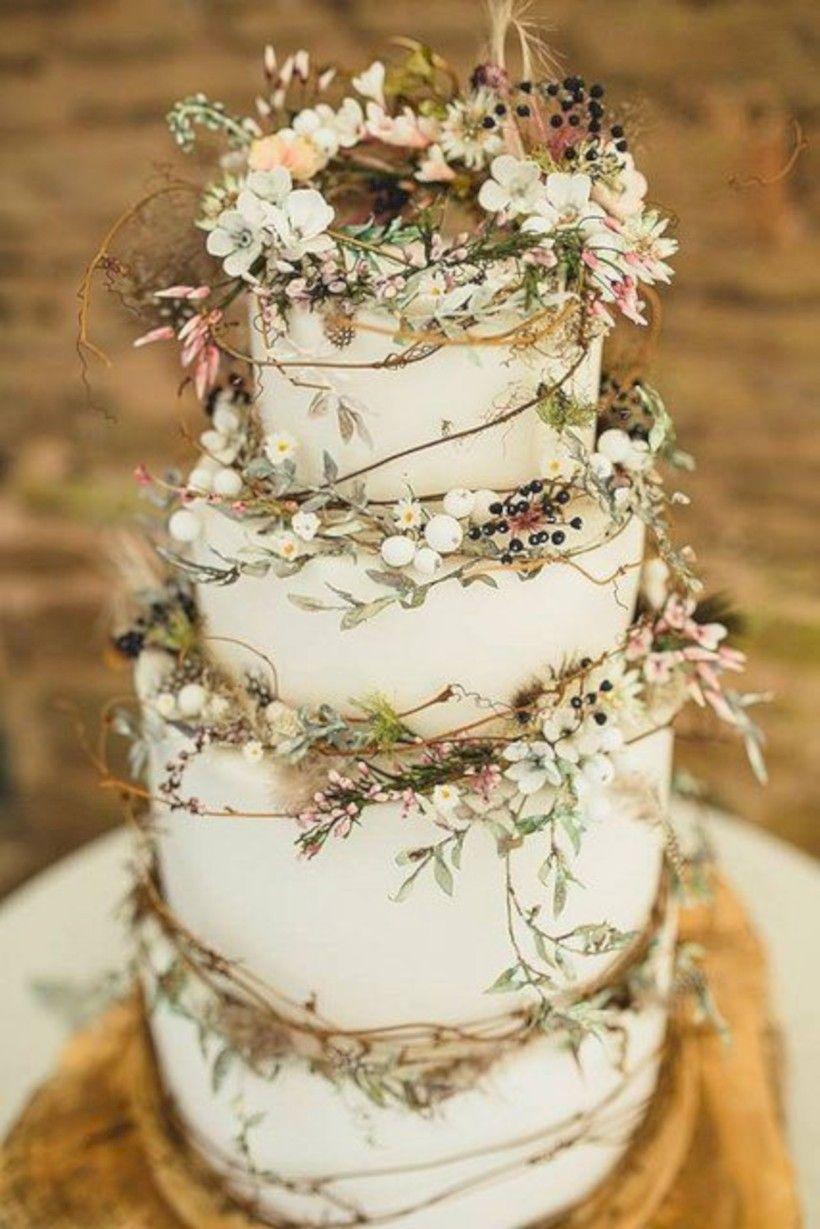 65 Simple Rustic Winter Wedding Cakes Ideas | Winter weddings ...