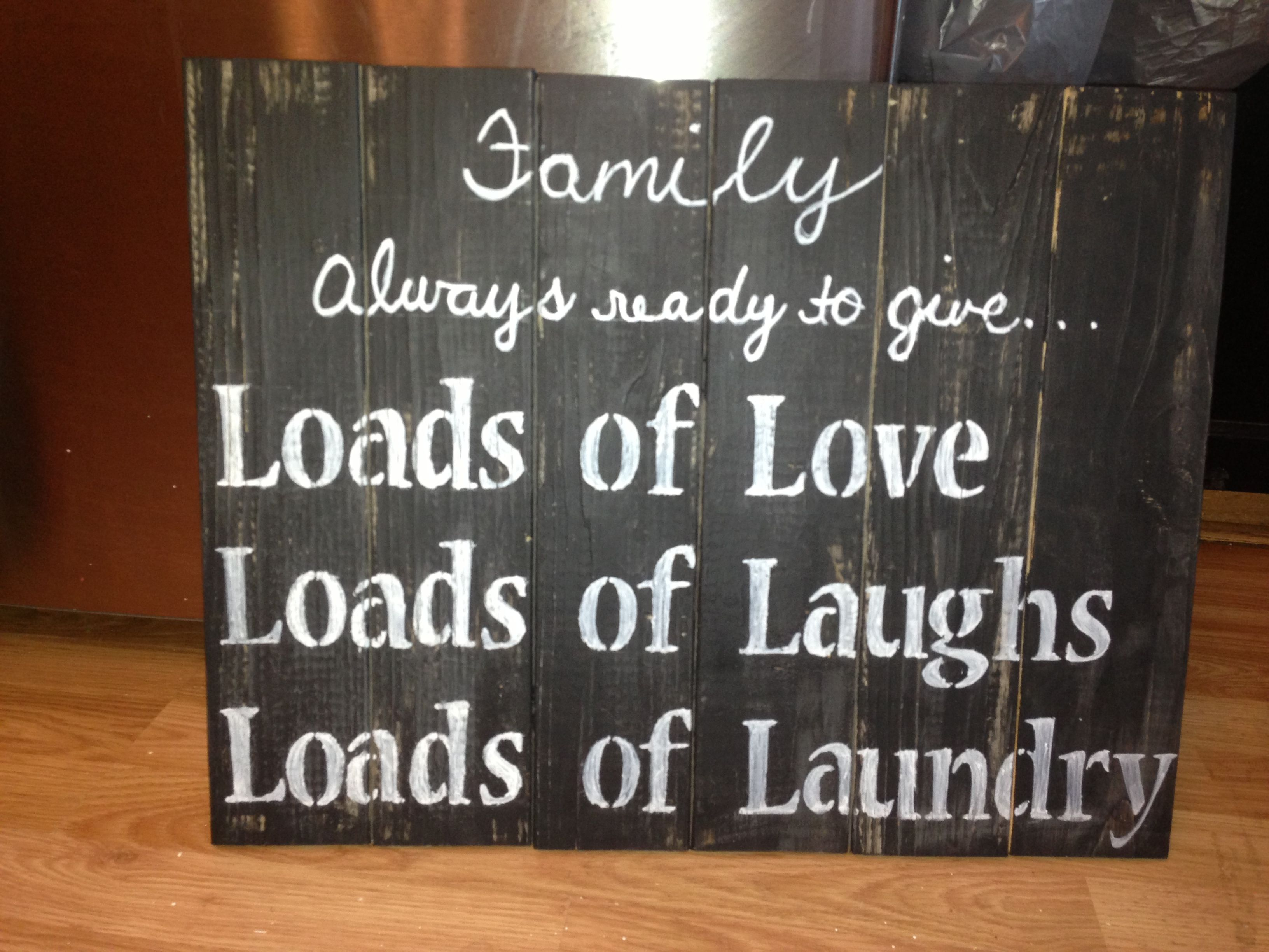 Homemade wood pallet signs by me☺ | ideas | Pinterest