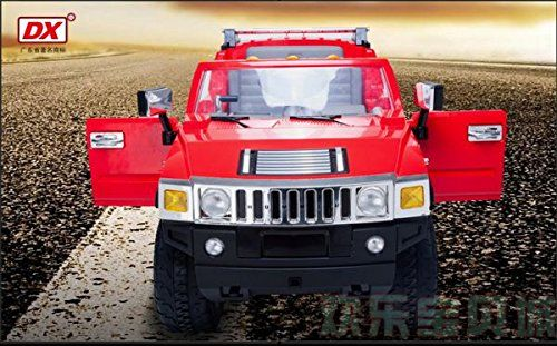 12v Rc Battery Power Kids Ride On Hummer Jeep Car W Big Wheels R C Remote Red Toy For Kids