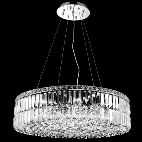 C121-2030D28CBy Regency Lighting - Maxim Collection Polished Chrome Finish Chandeleir