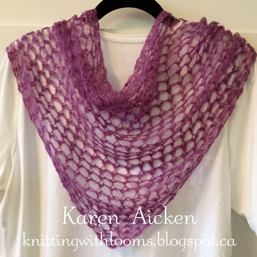 Knitting With Looms: Purple Pagosa Springs Scarf | loom knit | Pinterest