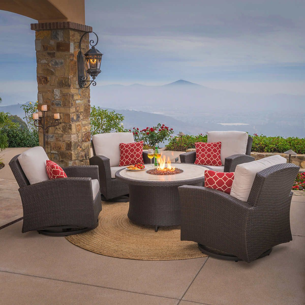 Santa Fe 5 Piece Fire Chat Set By Mission Hills Outdoor