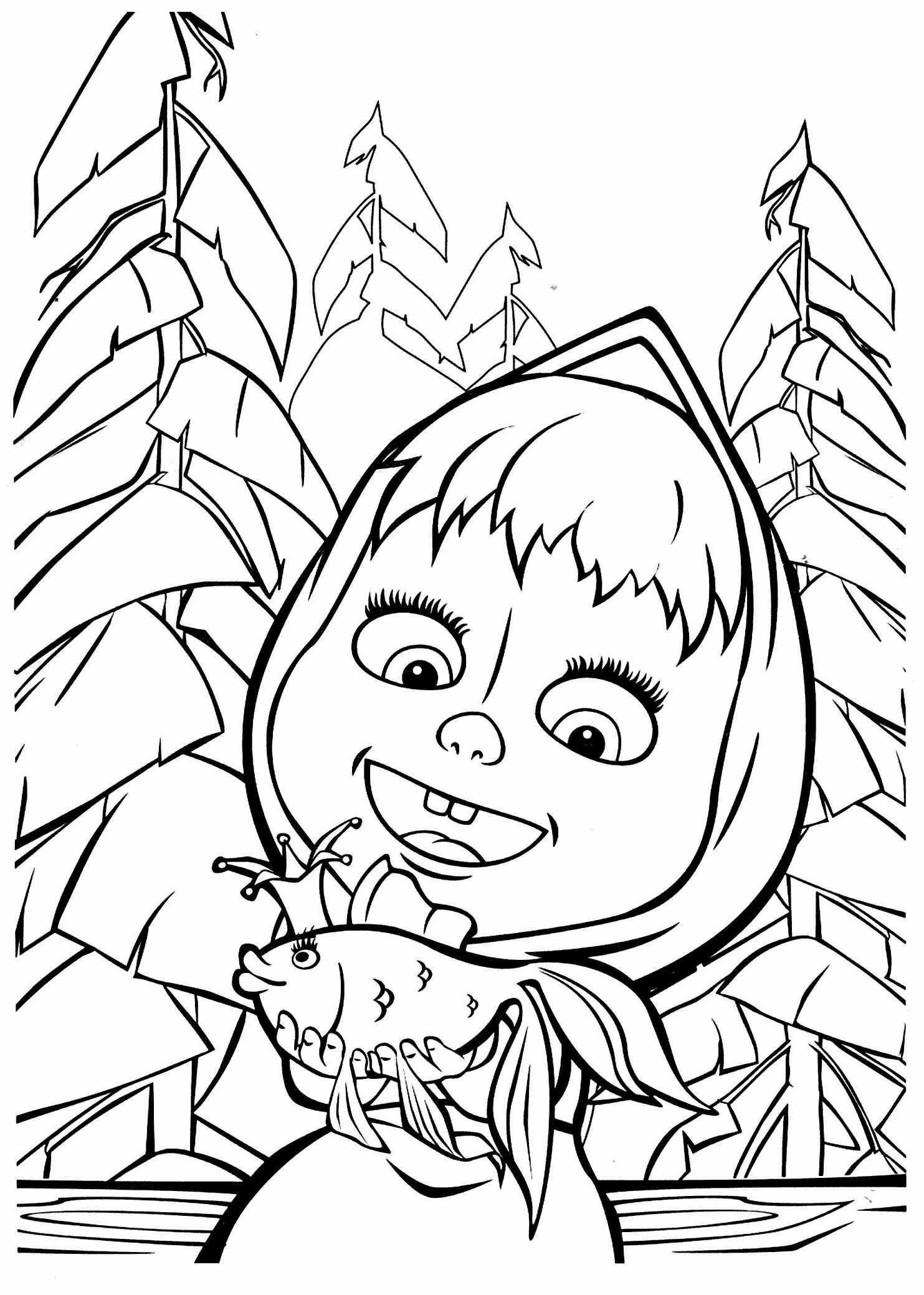 free-coloring-pages-com-christmas-awesome-masha-and-bear-coloring ...