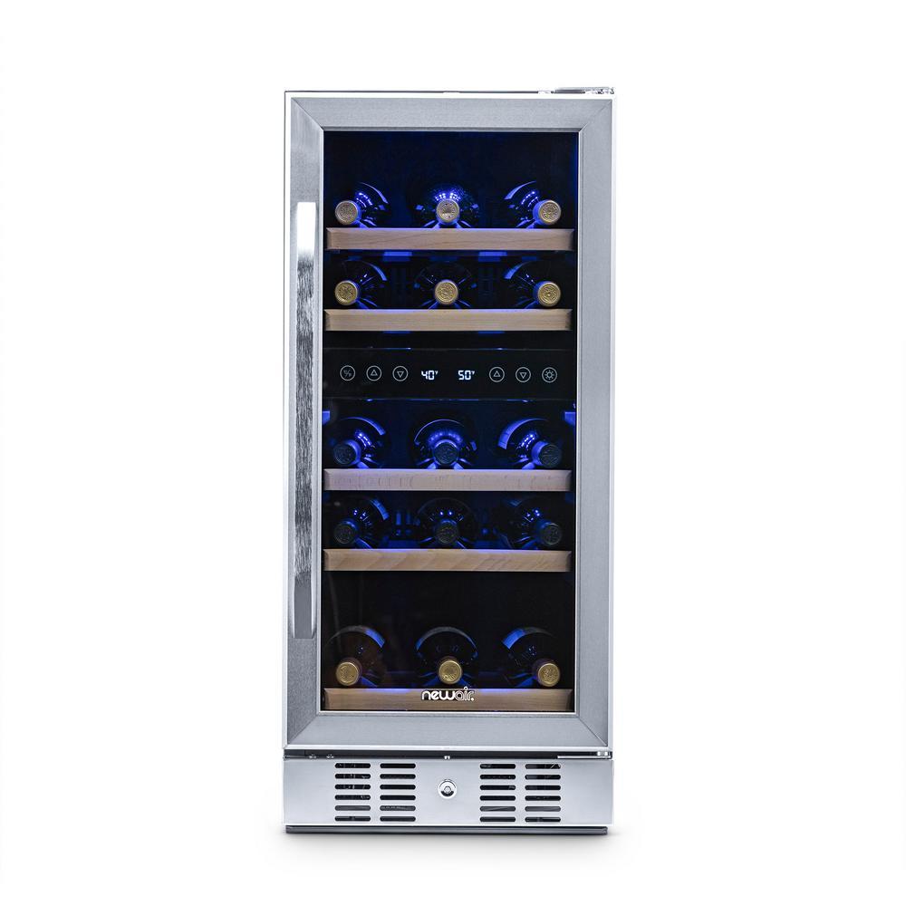 NewAir Dual Zone 29Bottle BuiltIn Compressor Wine Cooler