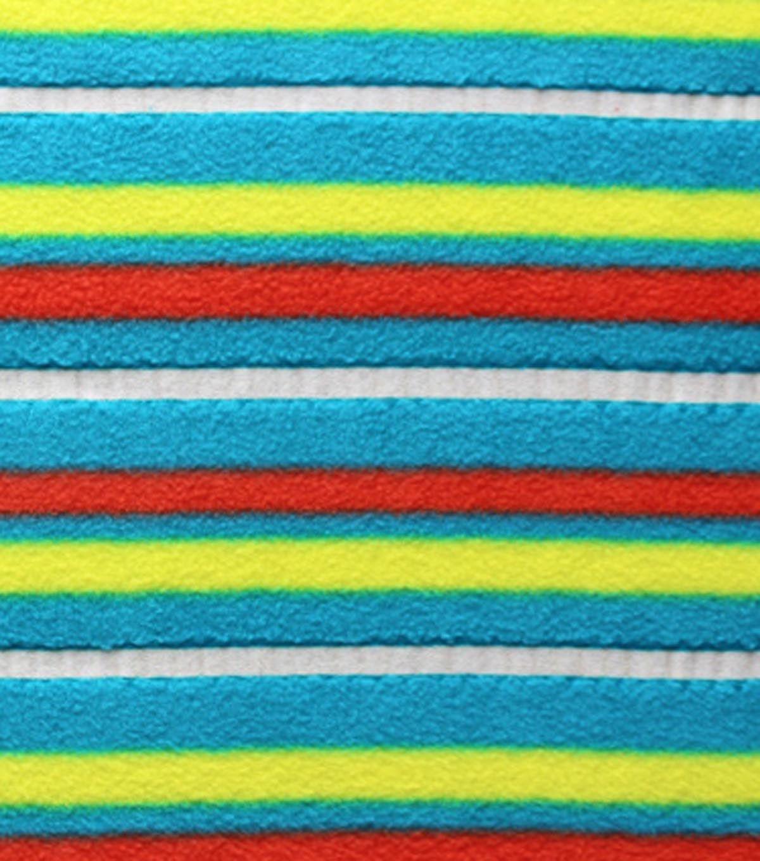 Antipill fleece fabric glow in the dark uneven stripe antipill