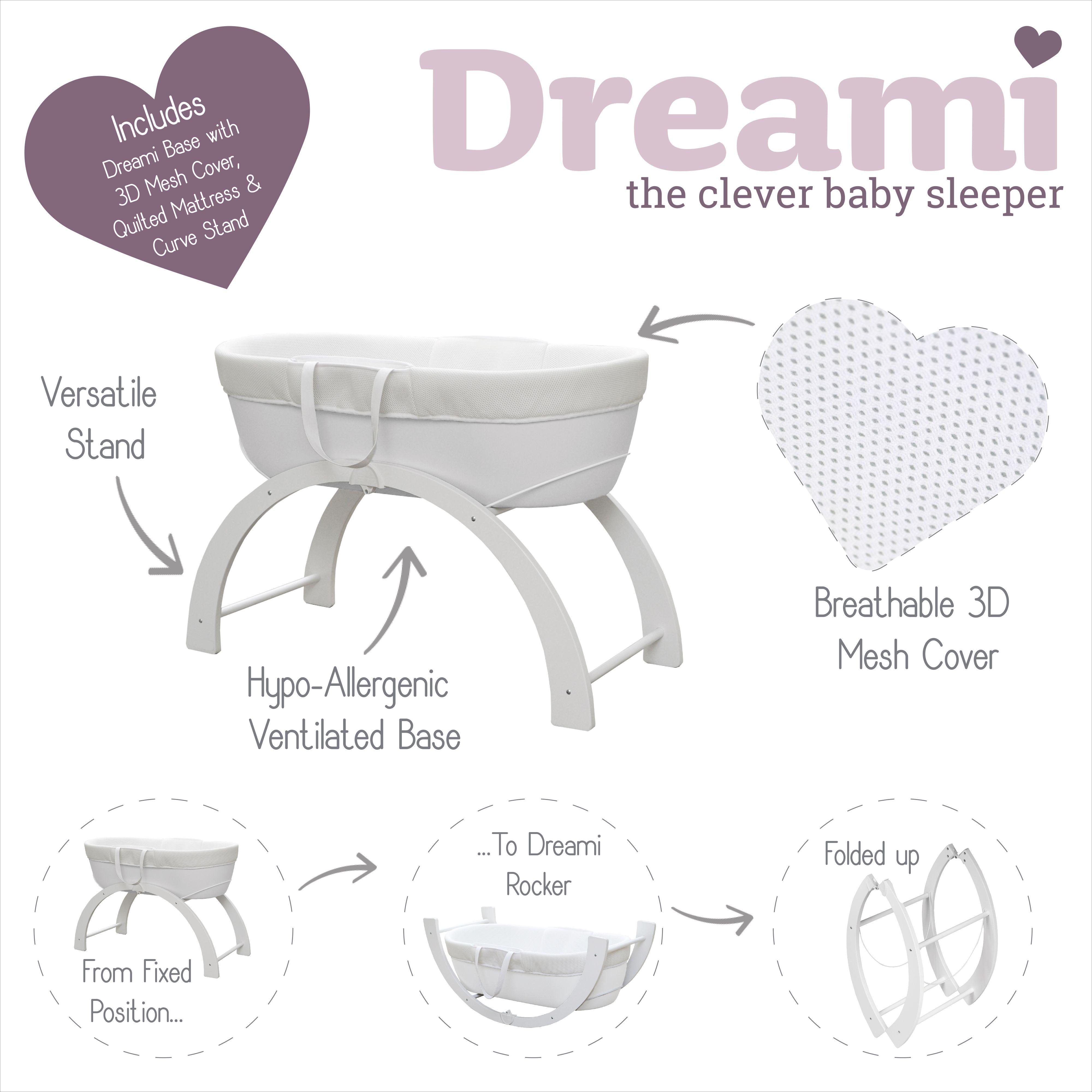 Dreami Moses Basket Baby Sleepers Baby Sleeping Safe Co Sleeping