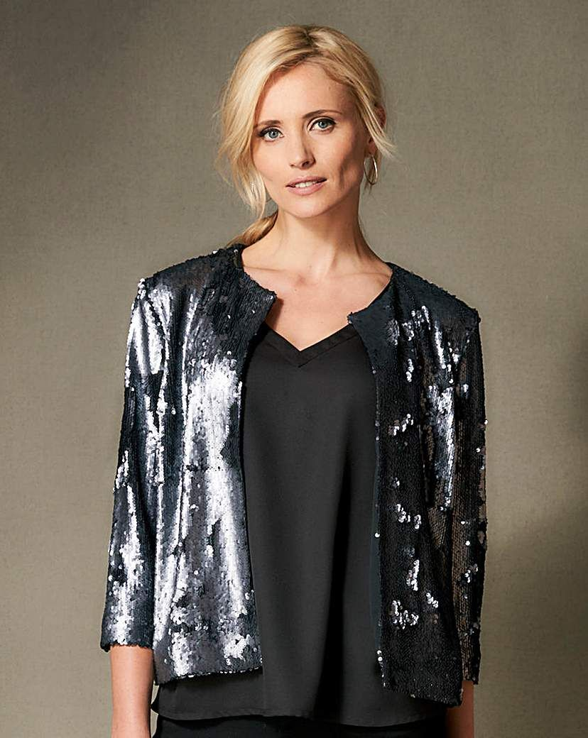 Womens All Over Sequin Top Simply Be