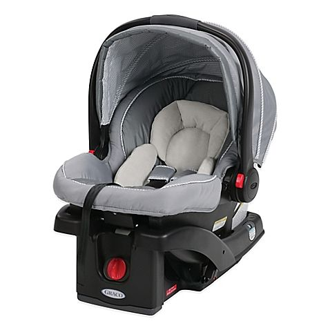 This ultra lightweight Graco SnugRide infant car seat makes it easy