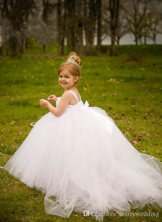 The flower girl dress toddler which match the flowers-white ball ...
