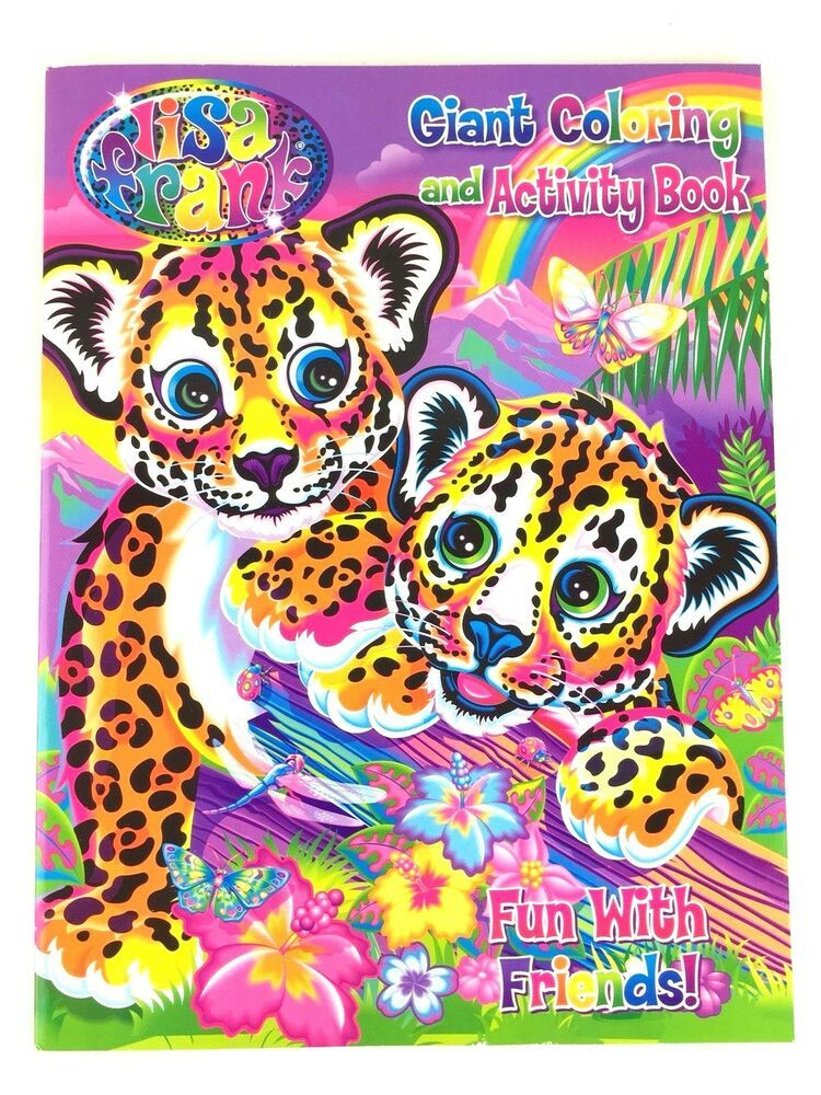 Lisa Frank Fun With Friends Giant Coloring and Activity Book for ...