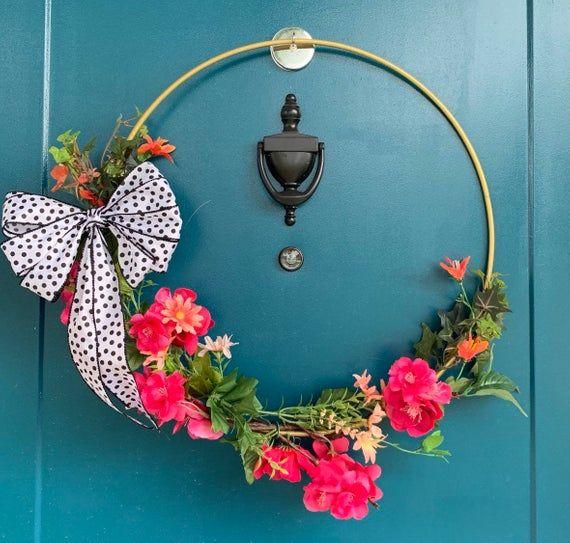 Photo of Tropical modern tire wreath, tropical wreath, tire wreath, tropical home decor, pink flower wreath, pink flower tire wreath