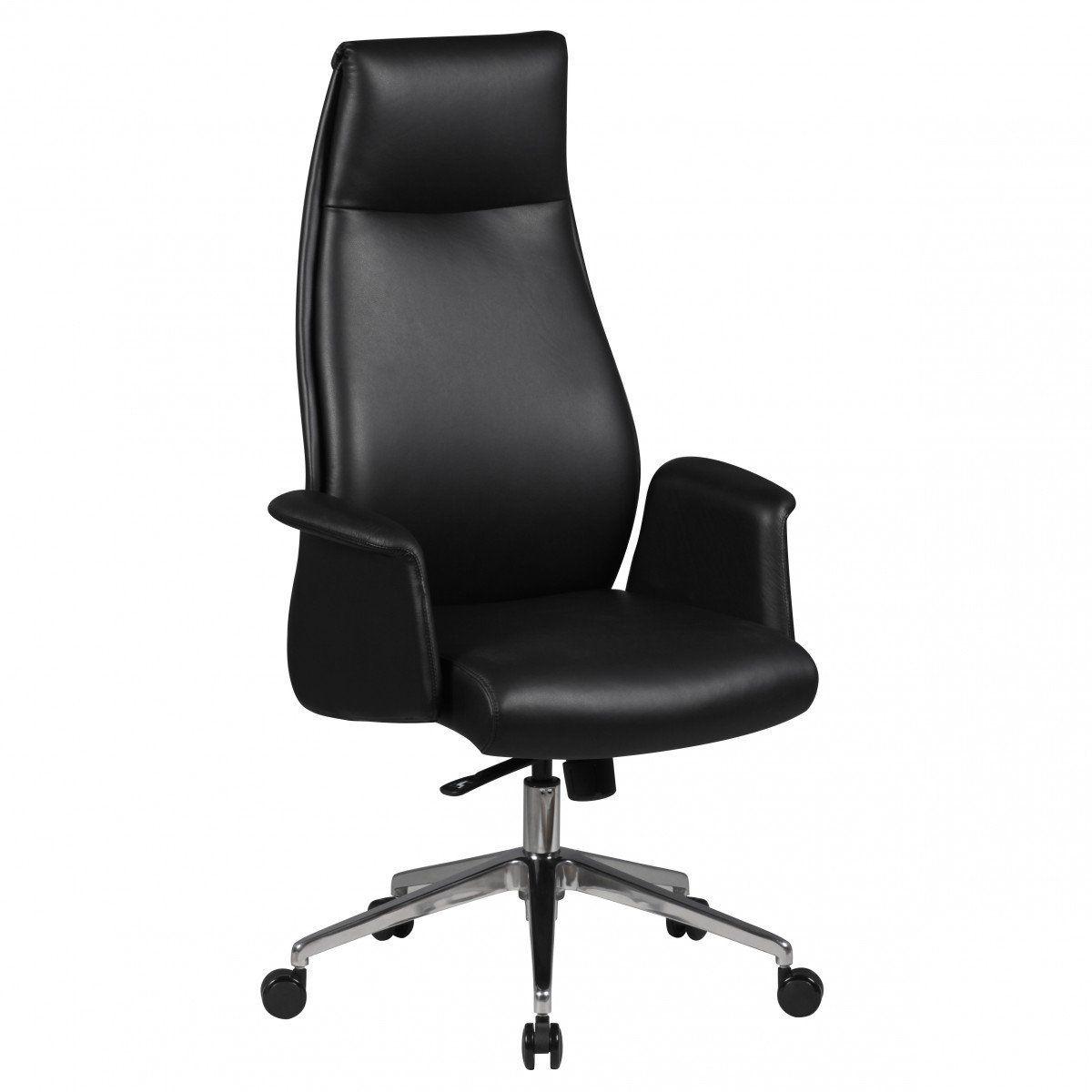 Schreibtischstuhl  AMSTYLE Bürostuhl FRANKLIN Echt-Leder Schwarz Schreibtischstuhl ...