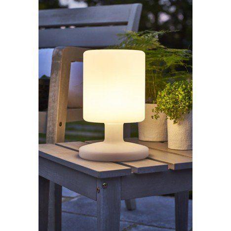 lampe de table extérieure led intégrée 5 w=130 lm, blanc