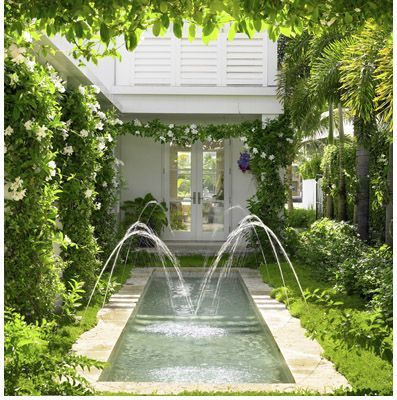 small pool and look at all of the climbing vines around the house!  Love it