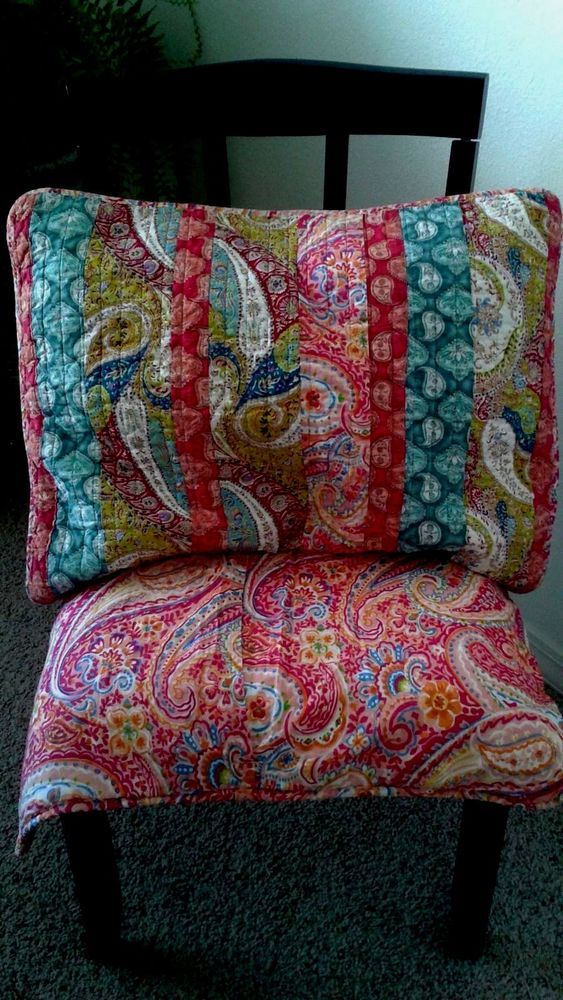 Cynthia Rowley 2 Standard Quilted Pillow Shams Multi Colored Paisley Rn75343 Cynthiarowley Quilted Pillow Shams Quilted Pillow Pillow Shams