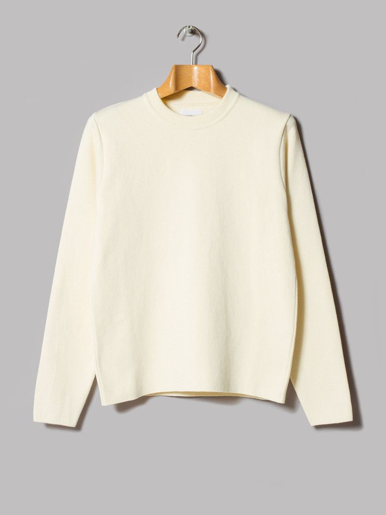 Norse projects verner cotton milano knit ecru menus fashion