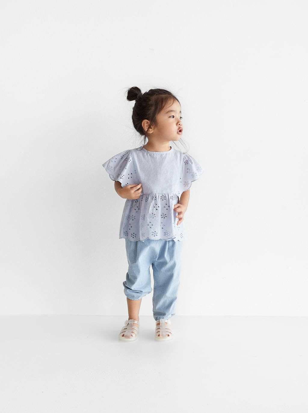 dc5378d838 Buttoned chambray trousers | Zara kids | Chambray, Trousers, Buttons