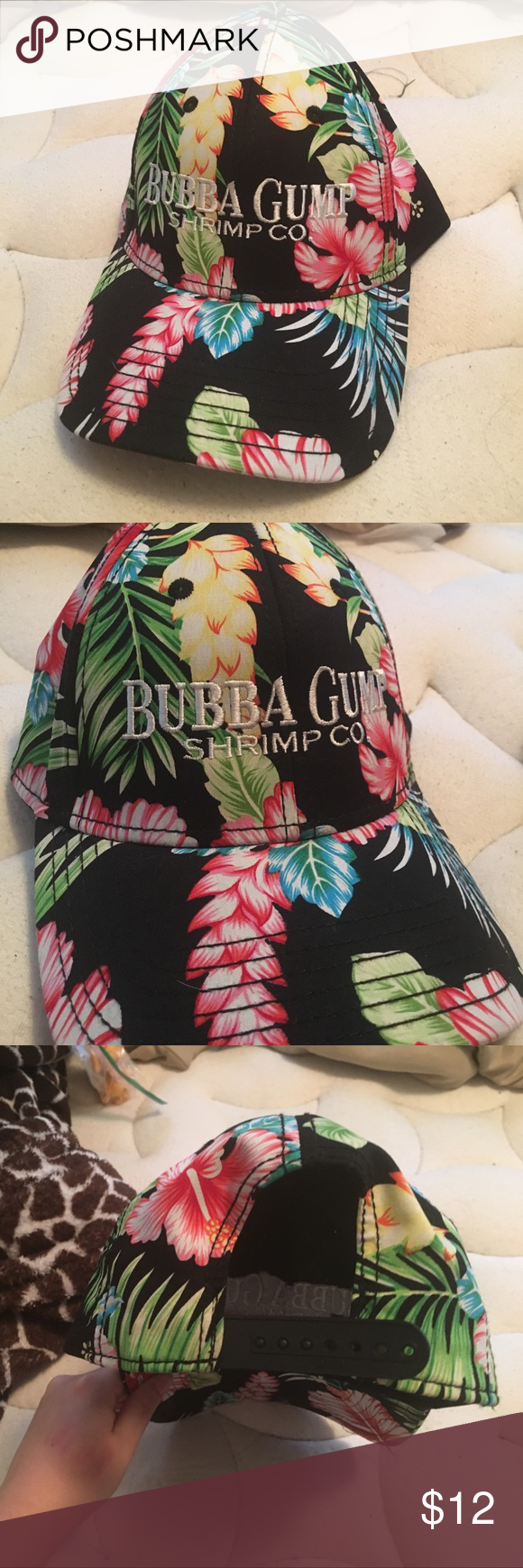 Floral SnapBack Bubba Gump Floral SnapBack baseball hat! Practically new! Adjustable size! Feel free to offer! 😊 (not Pink) PINK Victoria's Secret Other