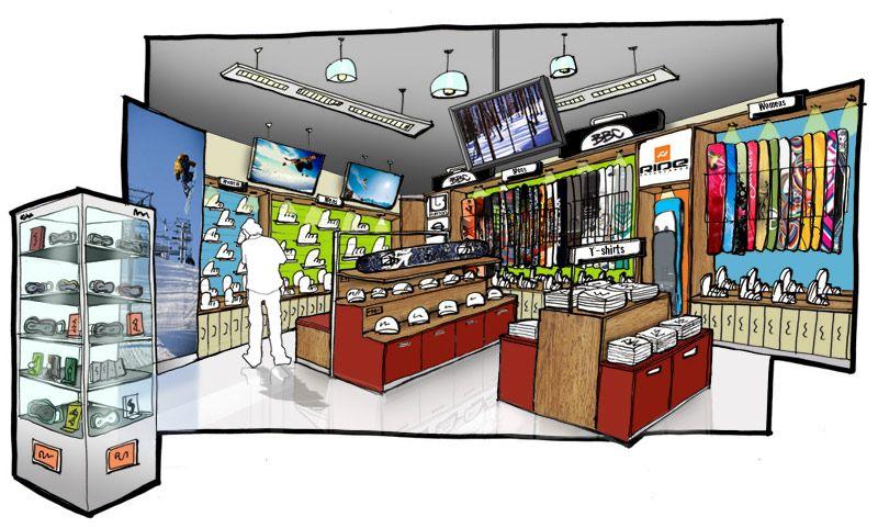 the board store snowboard area visualisierungen pinterest visualisierung. Black Bedroom Furniture Sets. Home Design Ideas