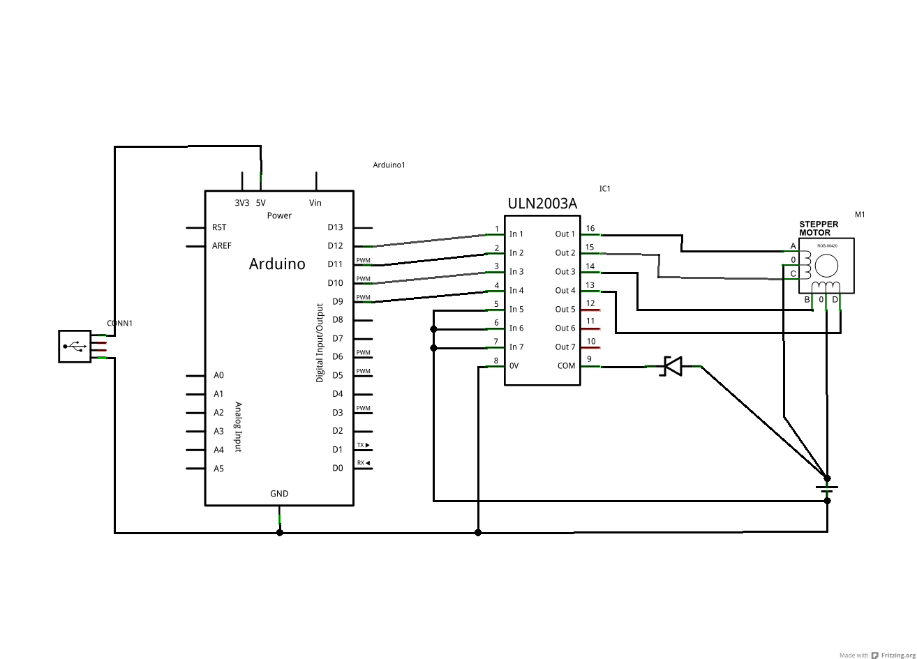 stepper motor   uln2003 driver board for arduino