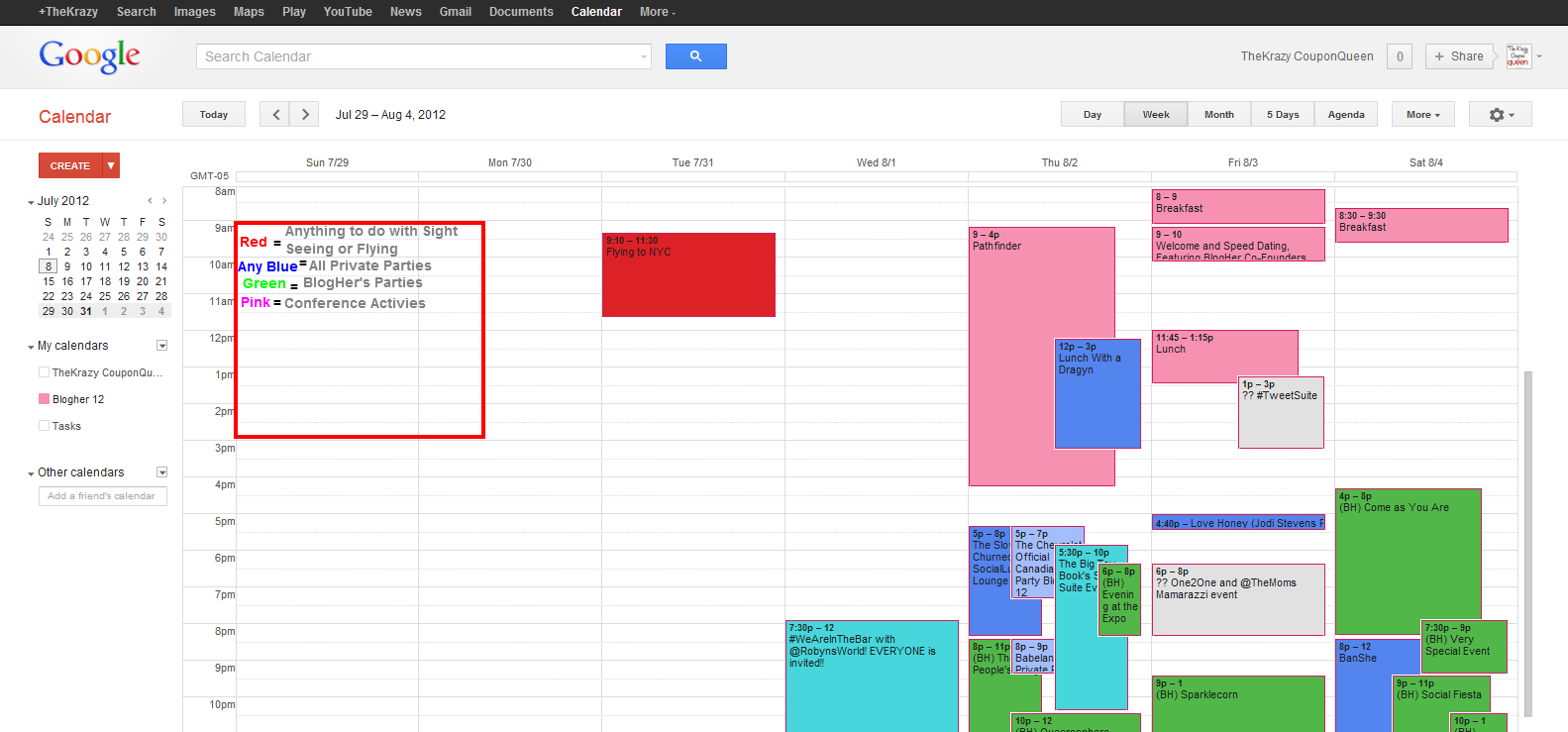 Going to Blogher '12? Don't Freak out, Start Scheduling!