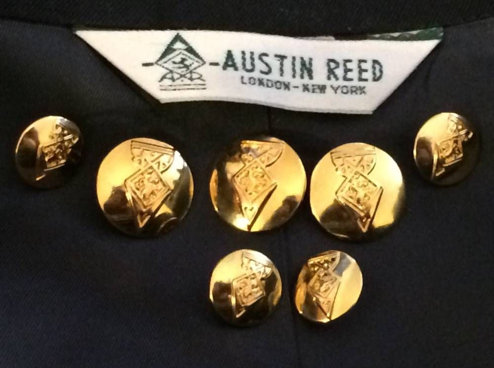 Austin Reed Replacement Blazer Suit Jacket Coat Gold Metal Buttons Set Lot Of 7 Metal Buttons Austin Reed Gold Metal