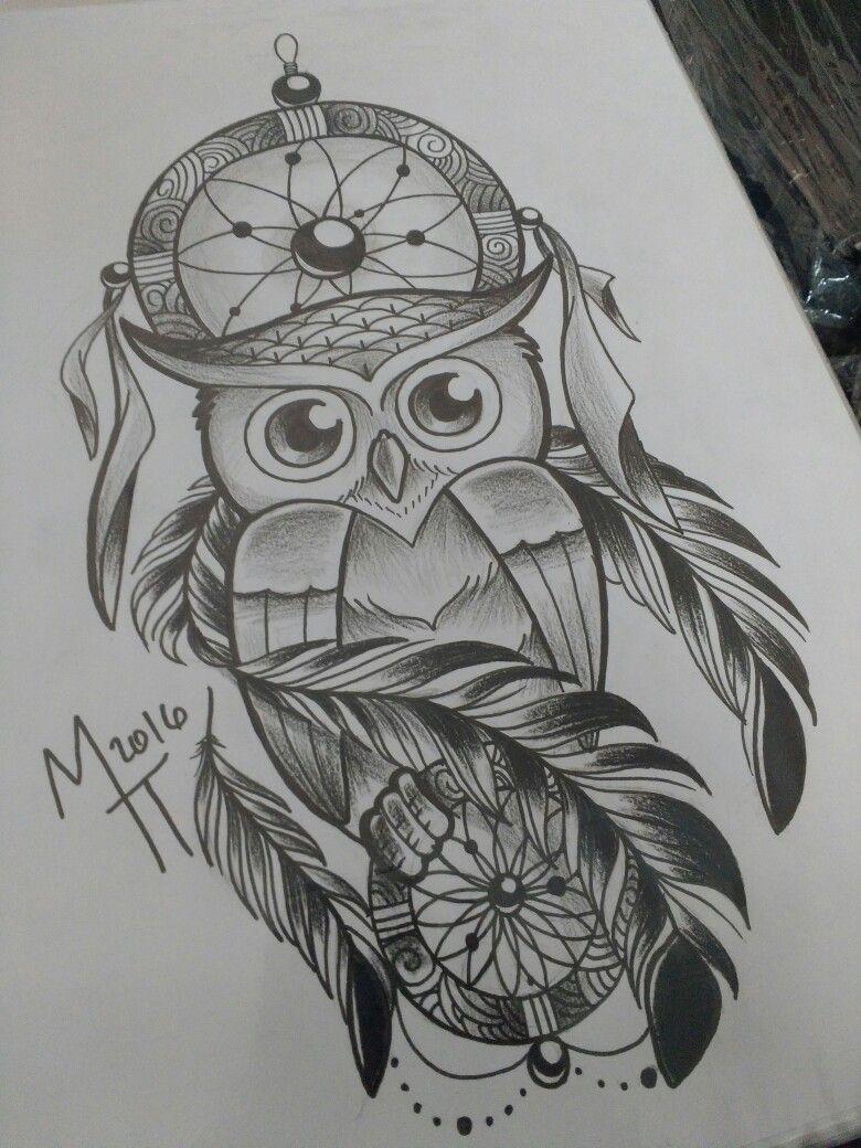 Filtro Dos Sonhos Owl Tats Tattoos Tattoo Designs Owl Tattoo